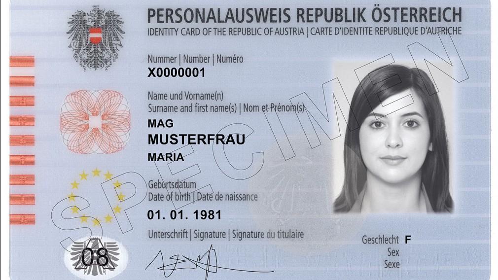 Foto: Österreichischer Personalausweis