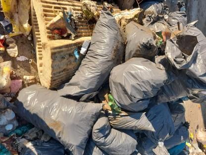 Der gesammelte Müll in der Deponie. Foto: Pomberger Jürgen