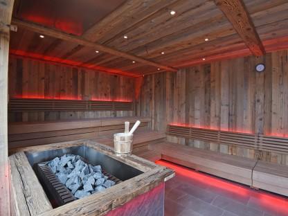 Sauna Innenansicht in der Saunacity St. Pölten. (Foto: Josef Vorlaufer)