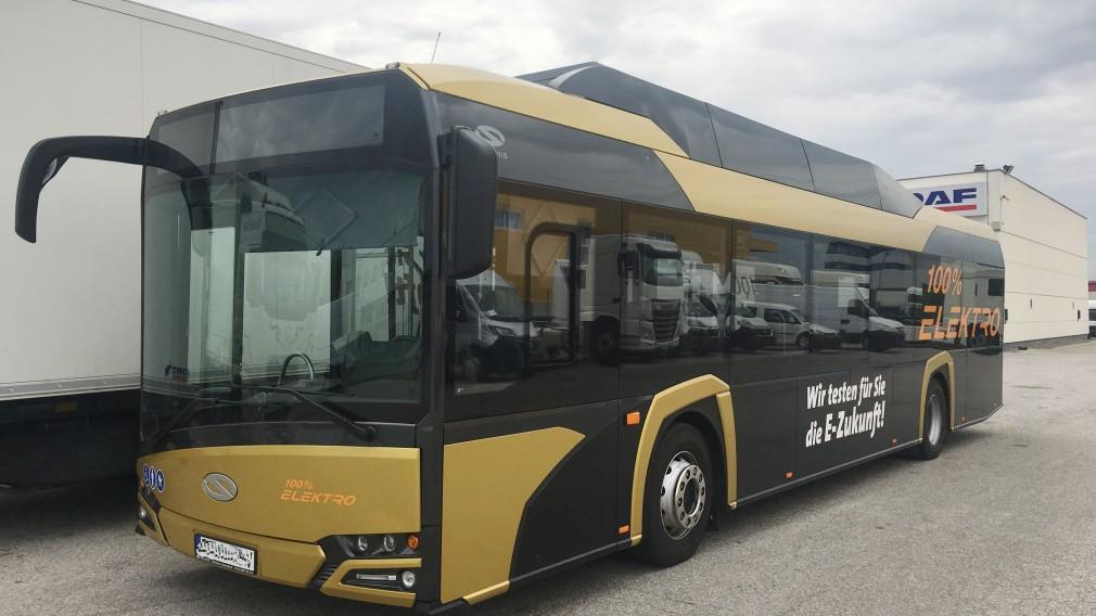 Elektrobus, der zu Testzwecken beim LUP eingesetzt wird. (Foto: zVfg. ZuklinBus GMBH)