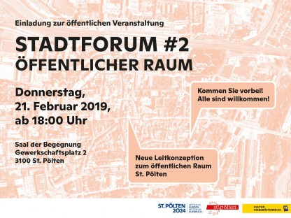 Einladung zum zweiten Stadtforum