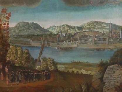 Abbildung Votivbild der Stadtgemeinde Stein an der Donau zu Maria Langegg (1632): Bild: Wallfahrtsmuseum Maria Langegg (Foto: Thomas Kühtreiber)