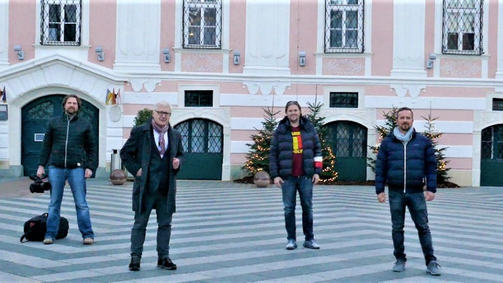 """Masterminds hinter den """"Stadtments"""" St. Pölten: Bernhard Brunnthaler, Andreas Spannring, Dominik Mesner und Matthias Weiländer. Foto: Beate Steiner"""