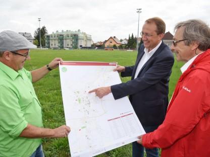 Neuer Park und Entwicklung des Erholungsgebiets am westlichen Wagram