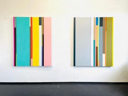 Diese Zwei Bilder des Künstlers Florian Nährer werden in der neuen Austellung KRAFT : WERK im Niederösterreichischen Dokumentationszentrum für moderne Kunst ausgestellt.
