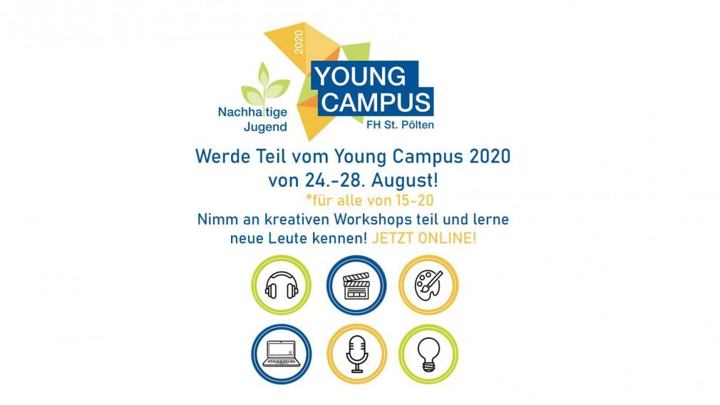 Young Campus Flyer der FH St. Pölten. (Foto: FH St. Pölten)