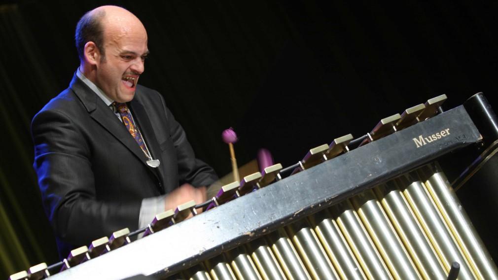 Martin Breinschmid am Vibraphon. (Fotoredit: Martin Breinschmid).