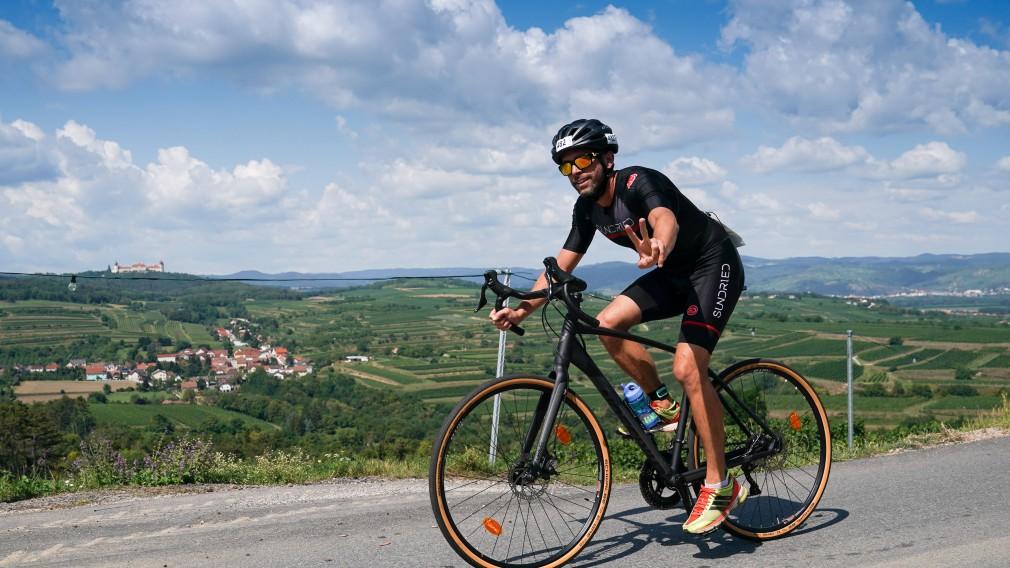 Radfahrer in der Wachau