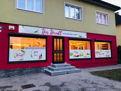 Außenansicht vom Regionalladen in Wagram.(Foto: Hannes Weichhart).