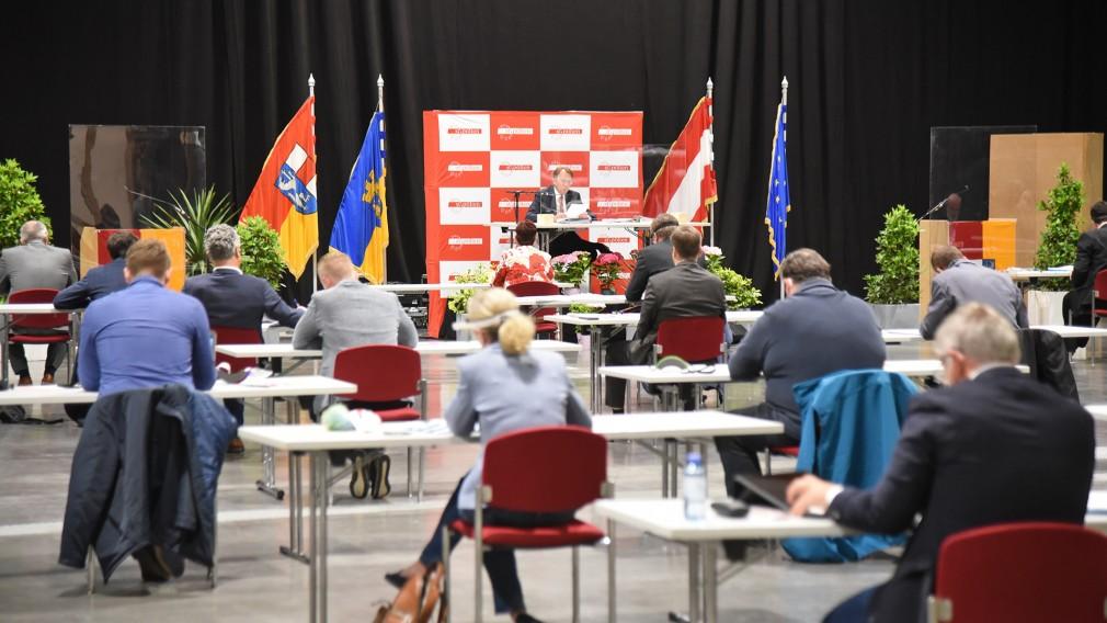 Sitzung des Gemeinderats am 25. Mai 2020 im VAZ St. Pölten. (Foto: Josef Vorlaufer)
