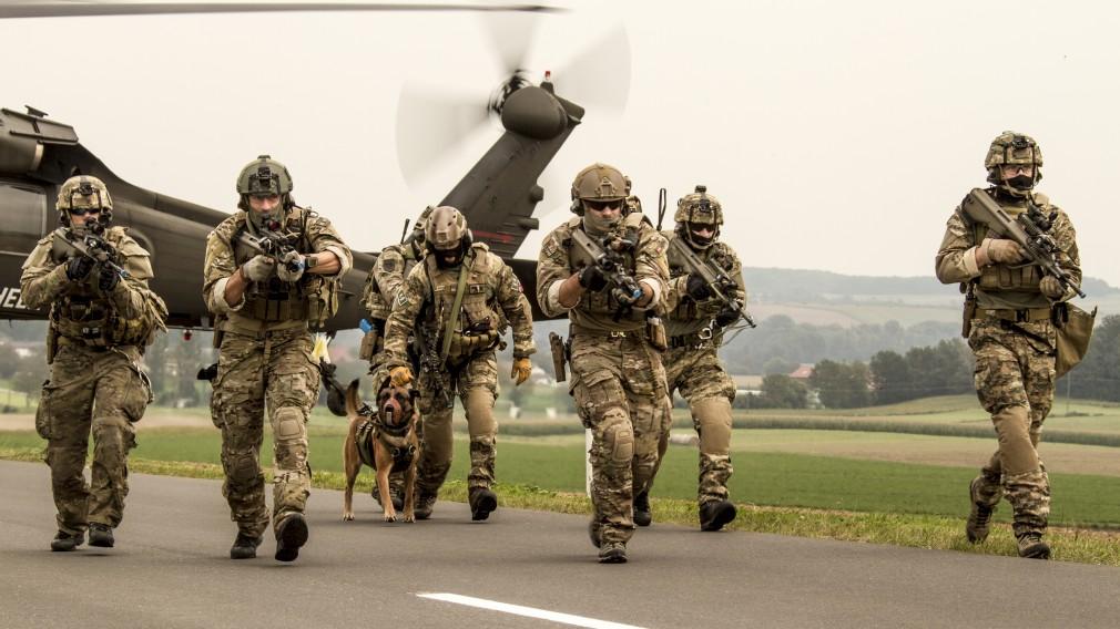 Bild von einer Übungssituation des Österreichischen Bundesheeres. (Foto: Trippolt HBF)
