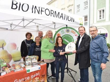BIO AUSTRIA Info-Stand am Domplatz