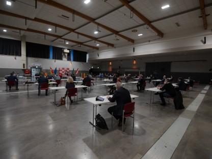 Blick in Saal im VAZ bei Sitzung des Gemeinderates.(Foto: Josef Vorlaufer)