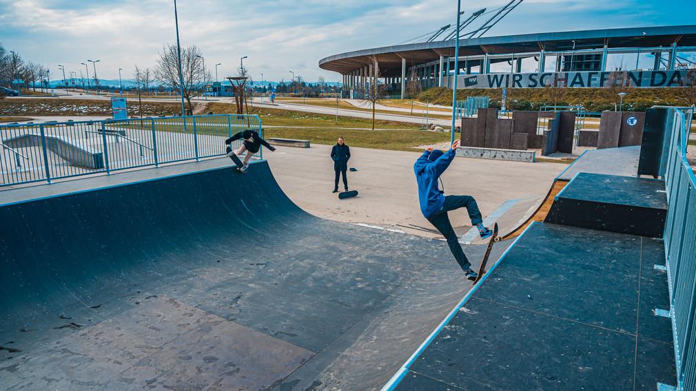 Bild von der neuen Rampe beim Skatepark. (Foto: Kalteis)