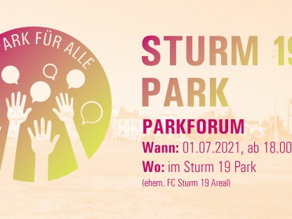 Parkforum Sturm 19 Park Folder. (Grafik: Stadtplanung St. Pölten)