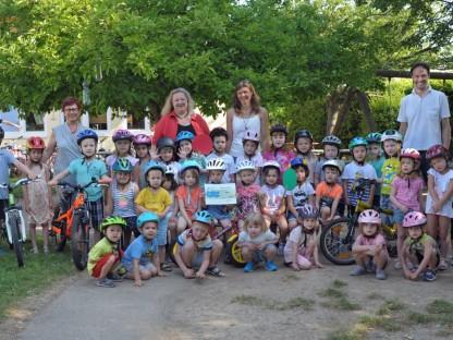 Klimabündnis-Radworkshop für Kindergarten Kupferbrunn