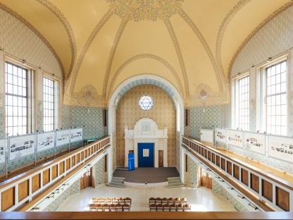 Ehemalige Synagoge St. Pölten Innenansicht von der Galerie aus. (Foto: Klaus Pichler)