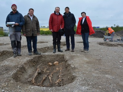 Archäologen bereiten den Boden für die Wirtschaft auf