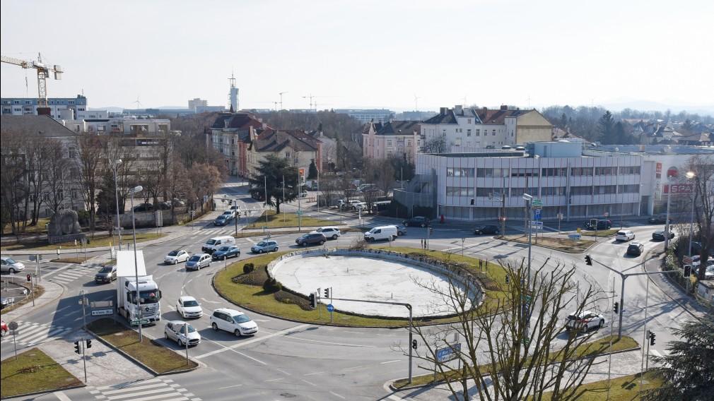 Europaplatz St. Pölten Ansicht von oben. (Foto: Josef Vorlaufer)