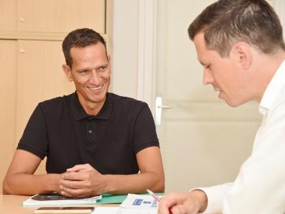 Peter Eigelsreiter im Gespräch mit Michael Koppensteiner. (Foto: Josef Vorlaufer)