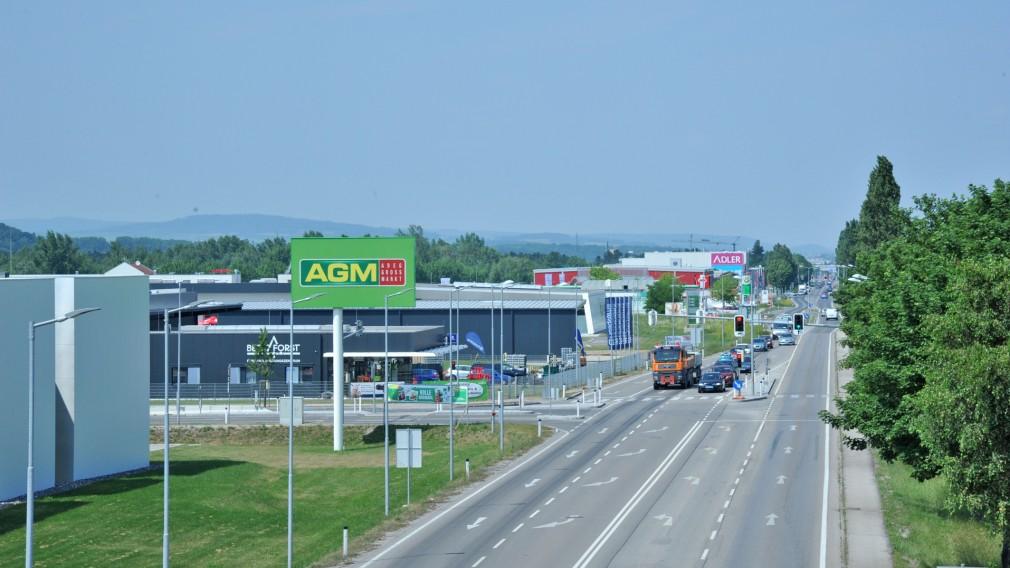 Gewerbegebiet Industriezentrum NOE CENTRAL St. Pölten - Westabschnitt Luftaufnahme. (Foto: Josef Bollwein)