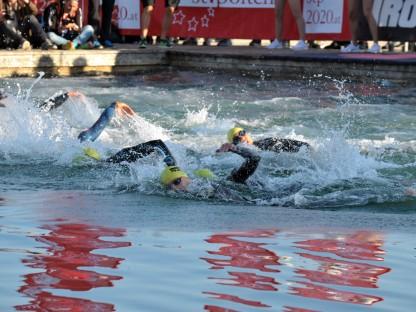 Schwimmer im Viehofner See. (Foto: Wolfgang Mayer)