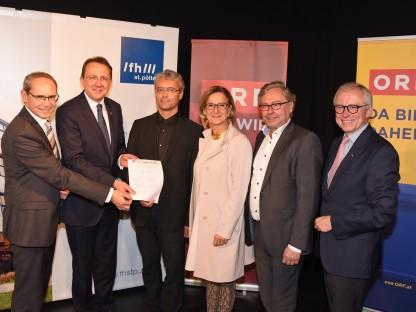 Fachhochschule St. Pölten und ORF schließen Kooperationsvereinbarung