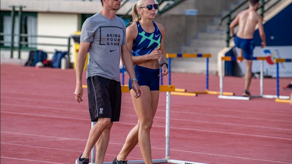 Philipp Unfried mit seiner erfolgreichsten Athletin Ivona Dadic. (Foto: Dario Glavas)