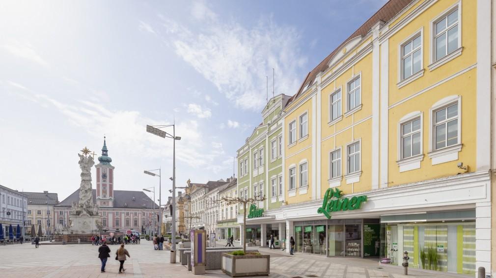 Möbelhaus Leiner am Rathausplatz St. Pölten. (Foto: Franz Brück)