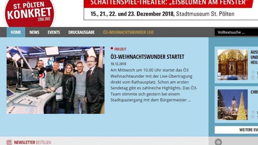stp-konkret.at berichtet live vom Ö3 Weihnachtswunder