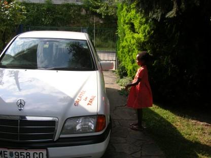 Das Auto von Walter Wiesmüller fährt mit Pflanzenöl. Foto: Walter Wiesmüller