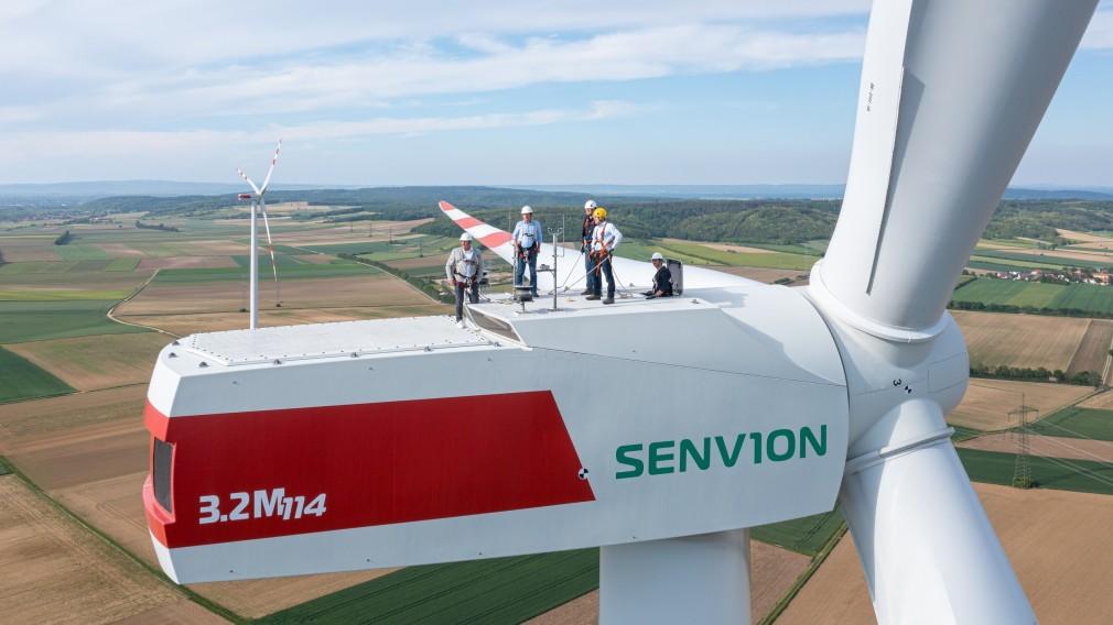 Luftaufnahme von einem Windrad in Pottenbrunn. (Foto: Klaus Rockenbauer)