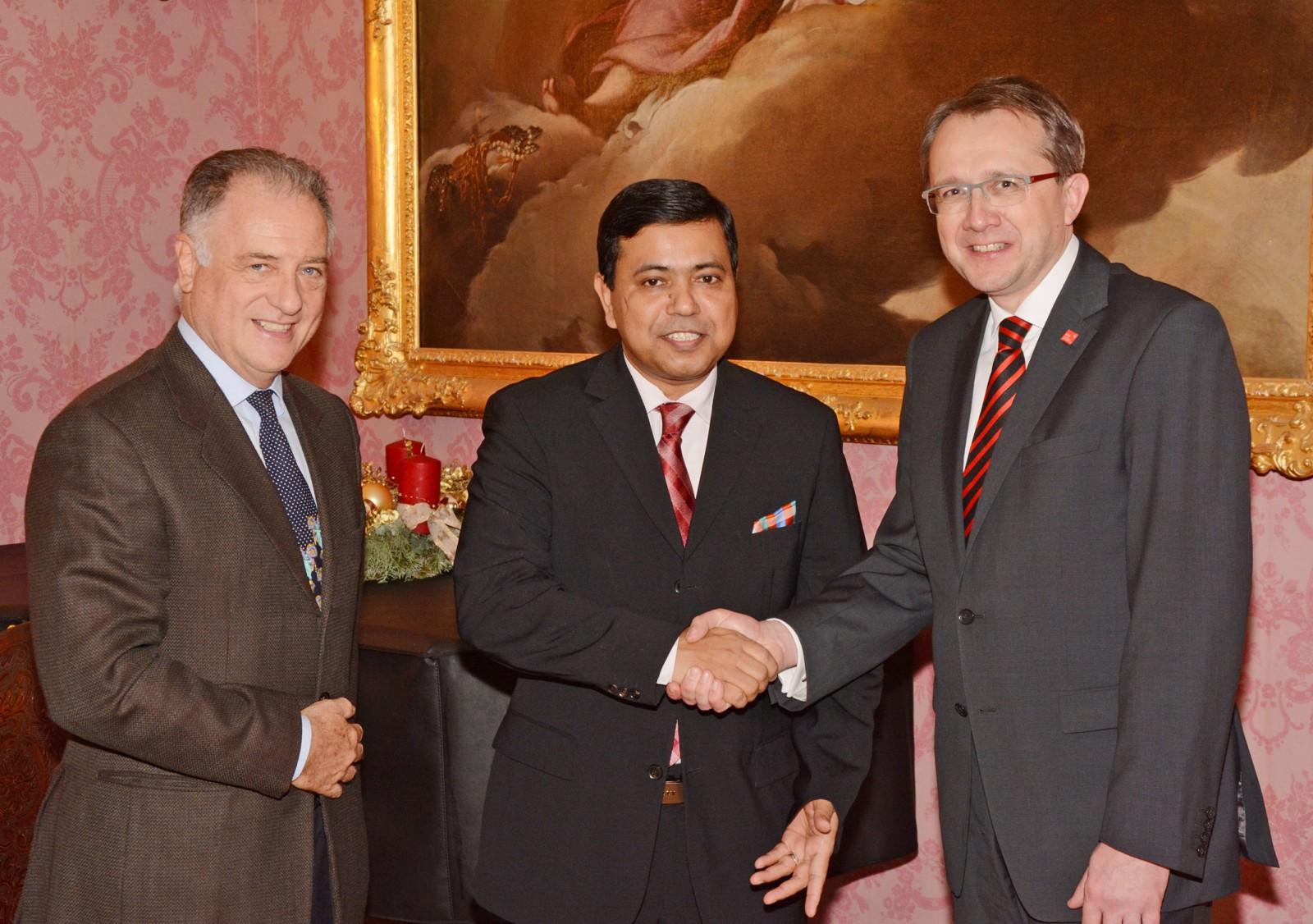 Botschafter von Bangladesch zu Gast im Rathaus