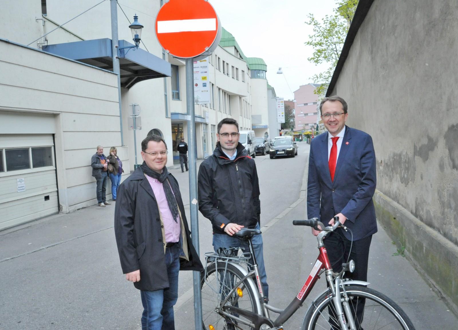 Radfahren in der Bräuhausgasse wird erleichtert