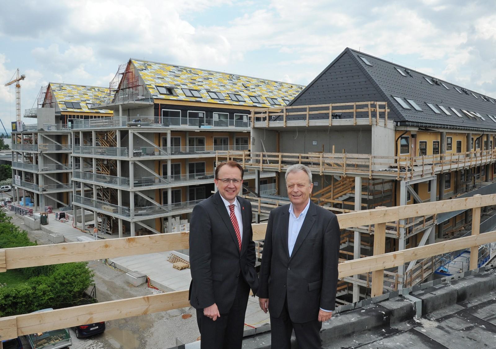 Zügiger Baufortschritt für 185 Wohnungen