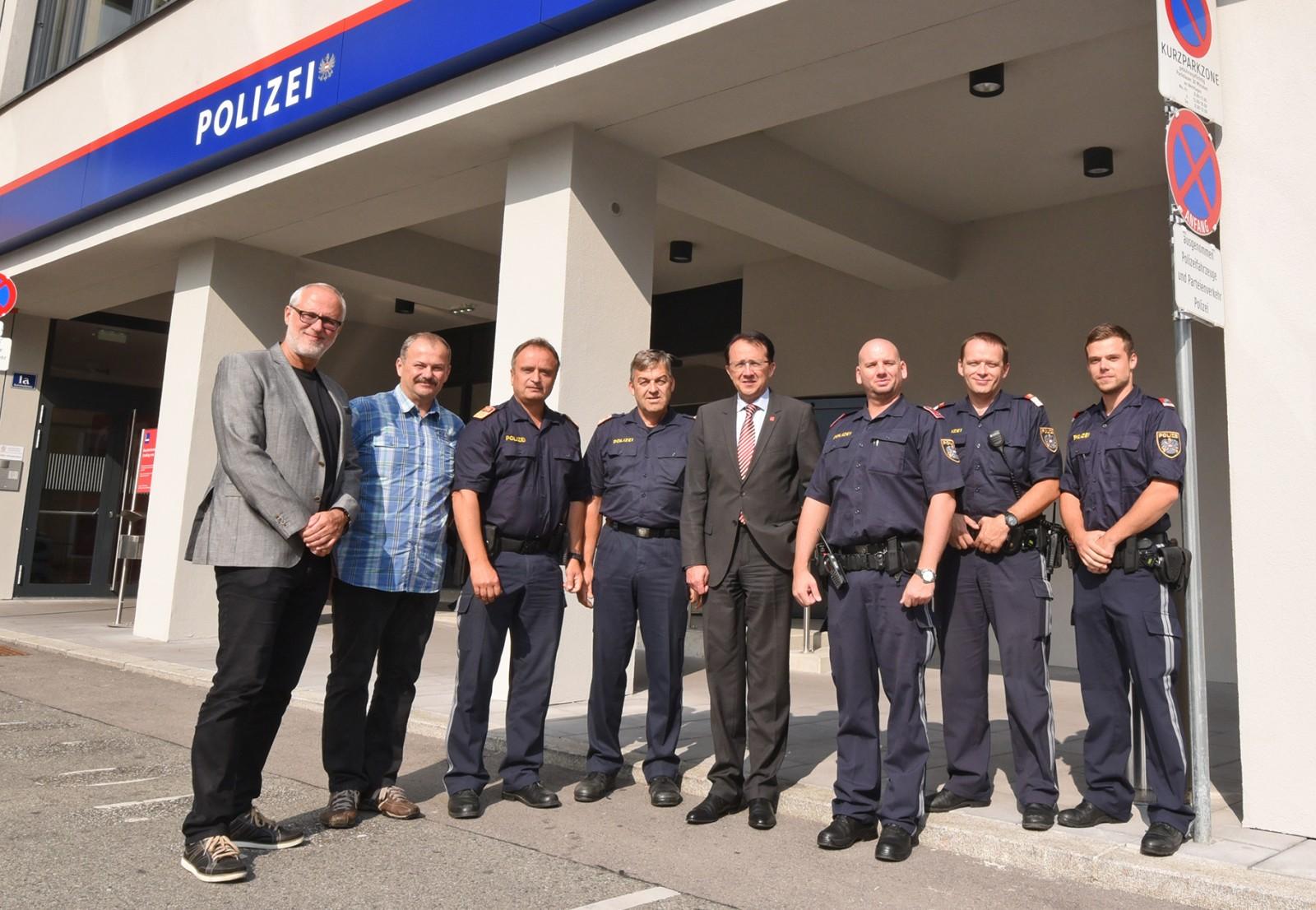 Bei der Polizei am Bahnhof