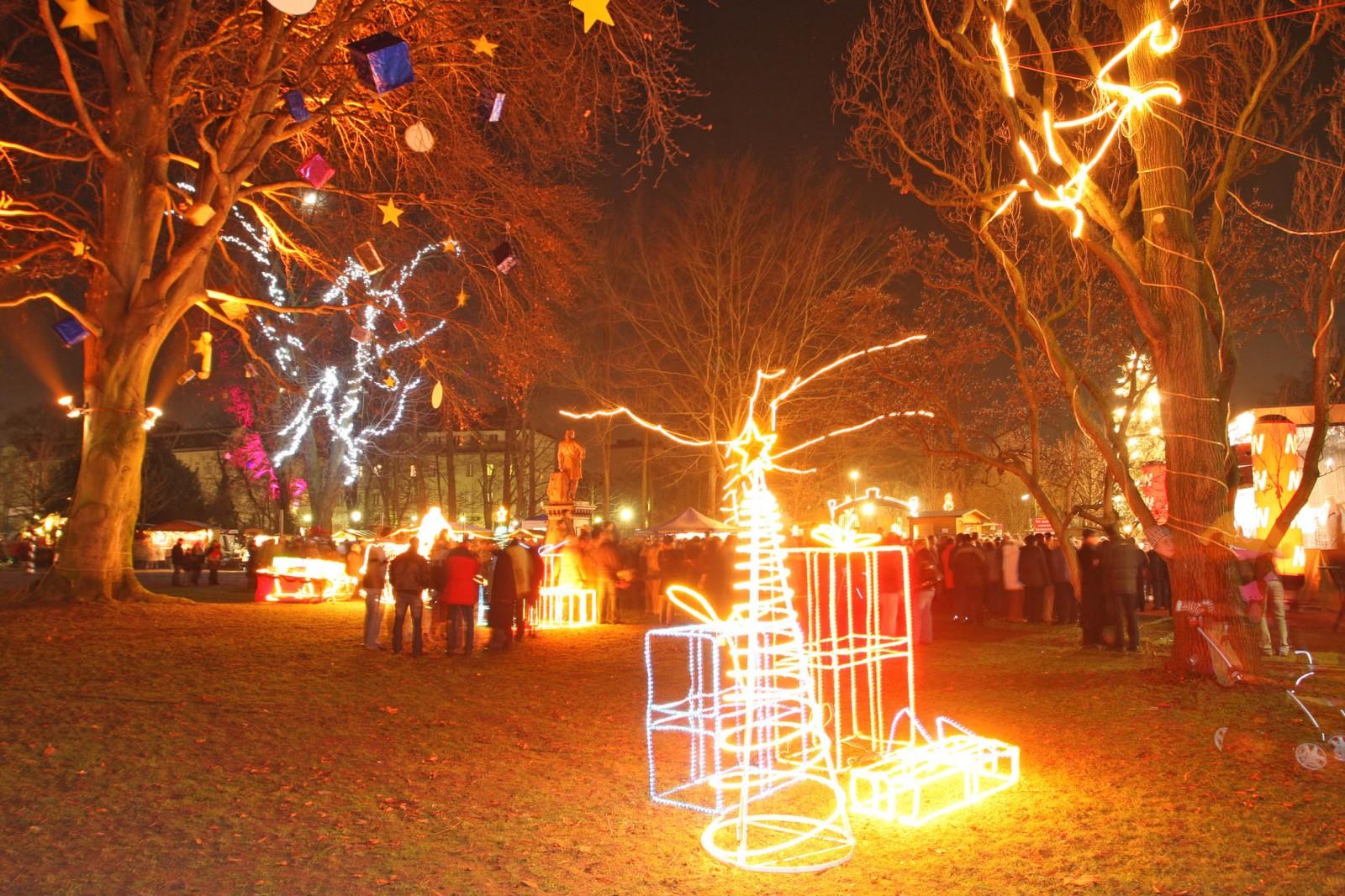 Weihnachtsstimmung im Sparkassenpark