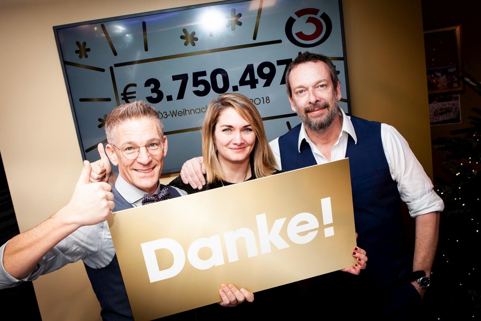 Ö3-Gemeinde spendet 4.203.497,- Euro für Familien in Not