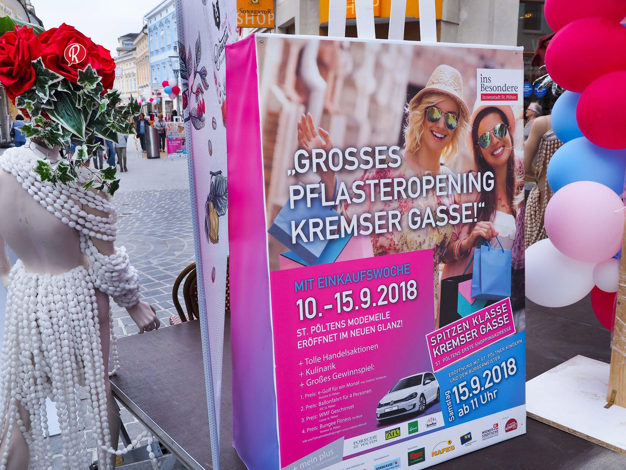 Pflasteropening Kremser Gasse & Einkaufswoche